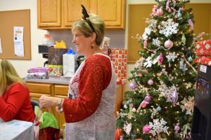 Dawn enjoys being Santa's elf